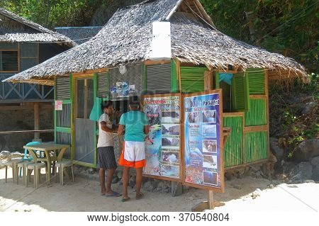 Palawan, Ph - March 7 - Kayangan Lake Store Facade On March 7, 2012 In Coron, Palawan, Philippines.