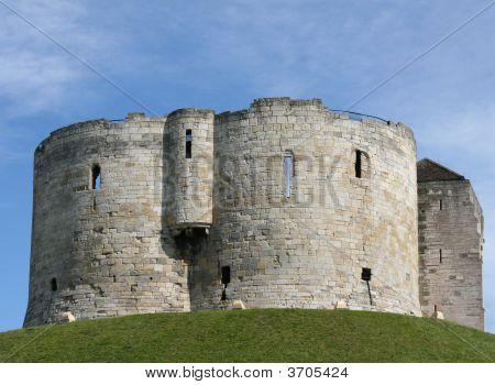 Burg auf mound