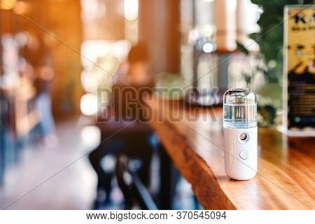 Alcohol Nano Mist Sprayer For Hand Cleaning To Prevent The Spread Of The Corona Virus (covid-19) Pla