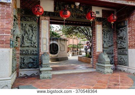 Nantou, Taiwan - Jan 9th, 2020: famous attraction of Lantian Tutorial Academy at Nantou, Taiwan