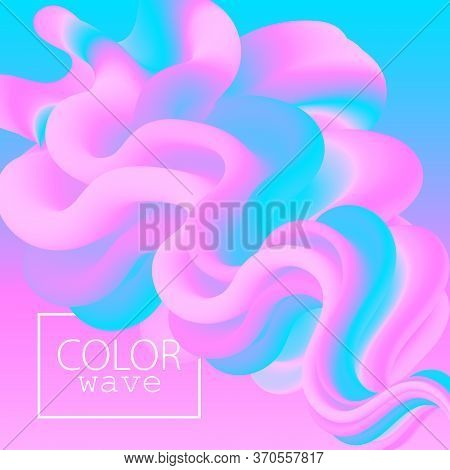 Pink Poster. Liquid Color. Fluid Background. Pink Design. Abstract Flow. Vibrant Color. 3d Poster. C