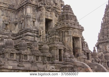 Detail Of Entrance In Tower At Famous Prambanan Hindu Temple, Yogyakarta, Java, Indonesia. Candi Pra
