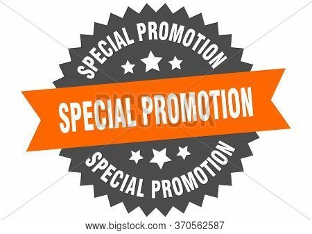 Special Promotion Sign. Special Promotion Circular Band Label. Round Special Promotion Sticker