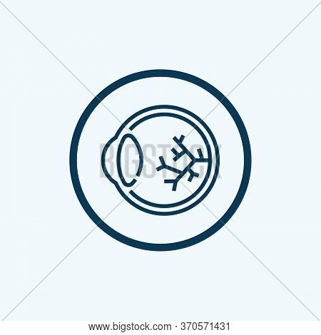 Eye Ball With Veins Icon. Outline Eye Ball With Veins Vector Icon For Web Design Isolated On White B