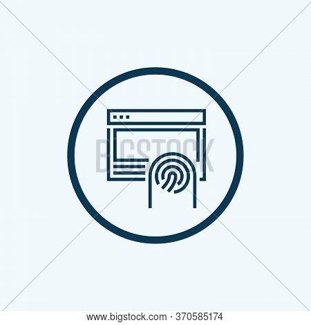 Fingerprint Icon Isolated On White Background. Fingerprint Icon In Trendy Design Style For Web Site