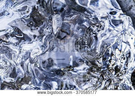 Glacier Ice Abstract Patterns Background Diamond Beach Jokulsarlon Glacier Lagoon Vatnajokull Nation