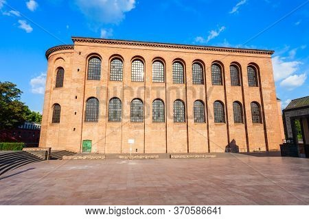 Basilica Of Constantine Or Aula Palatina Is A Roman Palace Basilica At Trier City In Germany