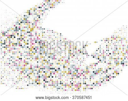Polka Dot Halftone Grunge Vector Pattern Design. Circle Elements Gradient. Comic Points, Polka Dot C