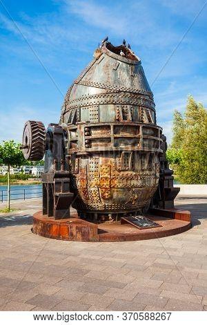 Thomas Steel Converter Monument At Phoenix See Lake In Horde District Of Dortmund In Germany