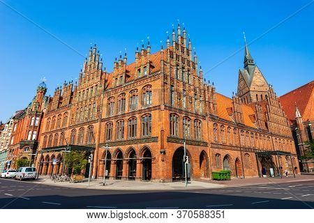 Old Town Hall Or Altes Rathaus In Hannover City, Germany