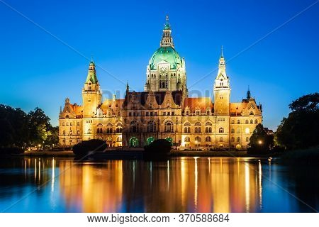 New Town Hall Or Neues Rathaus In Hannover City, Germany