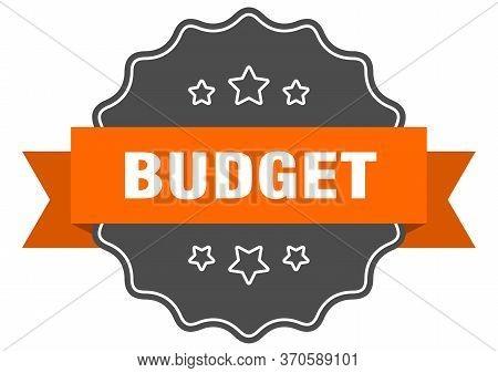 Budget Isolated Seal. Budget Orange Label. Budget