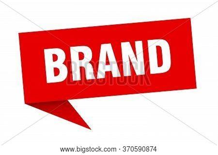 Brand Speech Bubble. Brand Ribbon Sign. Brand Banner