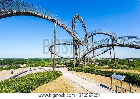 Duisburg, Germany - July 03, 2018: Tiger And Turtle Or Magic Mountain Is An Art Installation And Lan