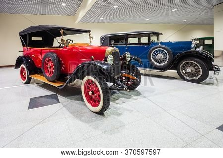 Moscow, Russia - April 06, 2019: Fiat Valencia 505 And Lorraine-dietrich Vintage Cars At The Free Of