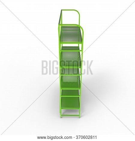 3d Image Of Color Metal Shelving Shelf 02