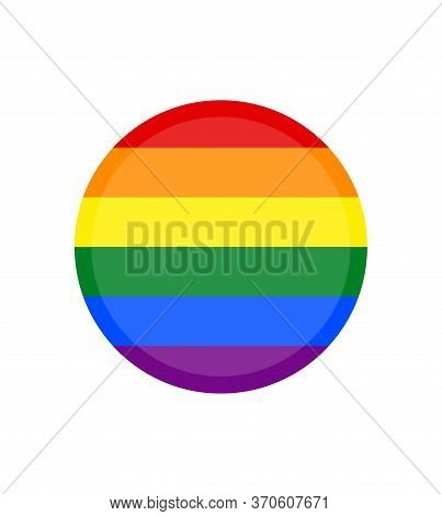 Vector Image Of A Lgbtq+ Flag. Pride Symbol. Rainbow Flag, The Most Widely Known Worldwide Is The Pr