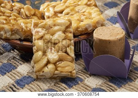 Boy Foot (pé De Moleque) And Pacoca Typical Peanut Jam At June Party (festa Junina) In Brazil