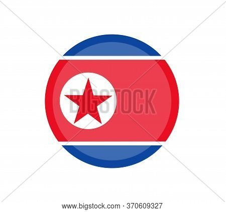 North Korea Flag, Official Colors And Proportion Correctly. National North Korea Flag. Vector Illust