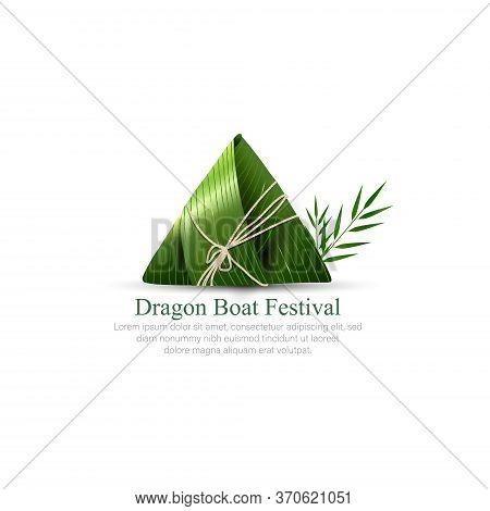 Giant Rice Dumplings, Dragon Boat Festival. Paper Cut Style