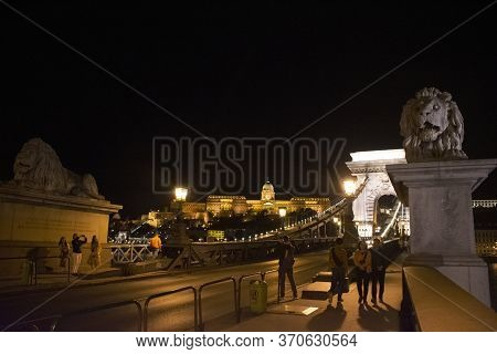 View Landscape And Cityscape Of Old Town City And Hungarian Parliament With Danube Delta River And B