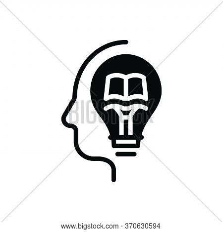 Black Solid Icon For Knowledge Knowing Wit Intelligence Intellect Sense Gyaan