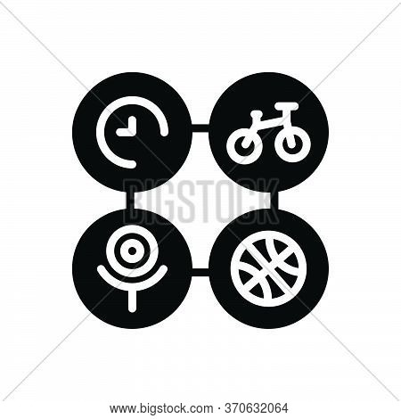 Black Solid Icon For Activity Stir Bustling Bustle Hobby