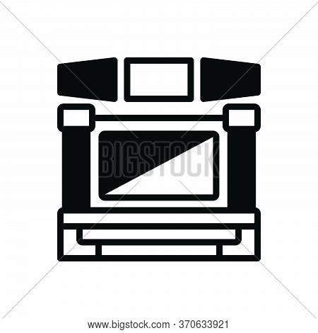 Black Solid Icon For Display  Demonstration  Show  Release  Presentation Manifestation