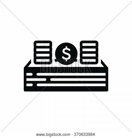 Black Solid Icon For Income Revenue Finances Emolument Payment