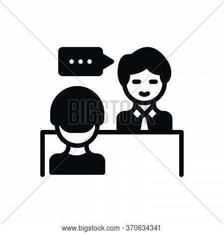Black Solid Icon For Advice Counsel Rede Preaching Sermon Instruction Edification