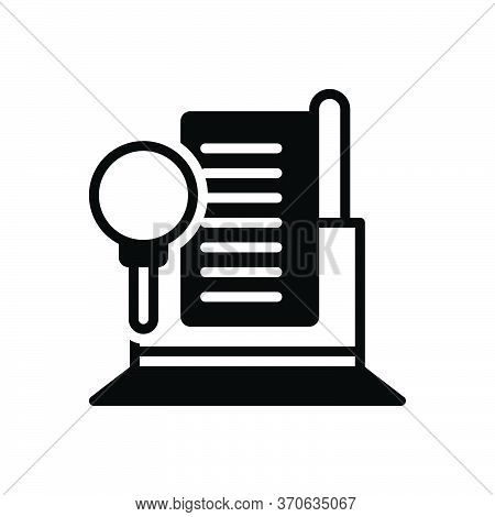 Black Solid Icon For Audit  Finance  Auditor Document