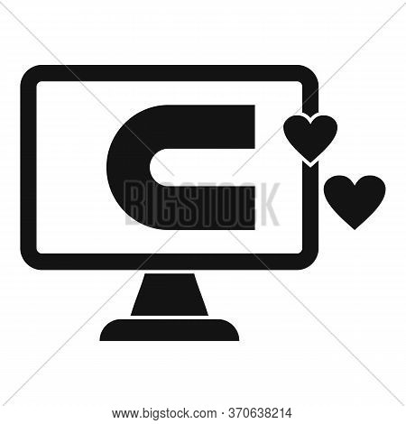Engaging Content Computer Icon. Simple Illustration Of Engaging Content Computer Vector Icon For Web