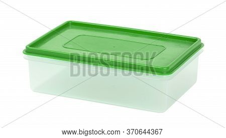 Transparent Plastic Container Isolated On A White Background - Capacity For Products