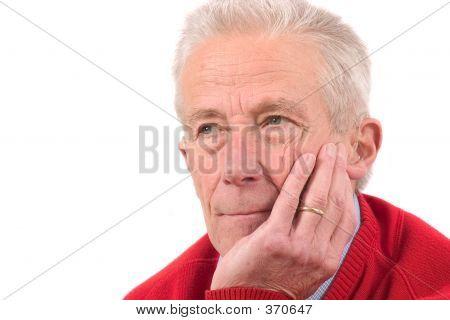 Handsome Senior Man Looking Serious