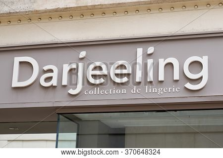 Bordeaux , Aquitaine / France - 05 12 2020 : Darjeeling Logo Store Lingerie Collection Underwear Sig