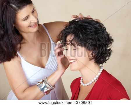Woman Hair Styling