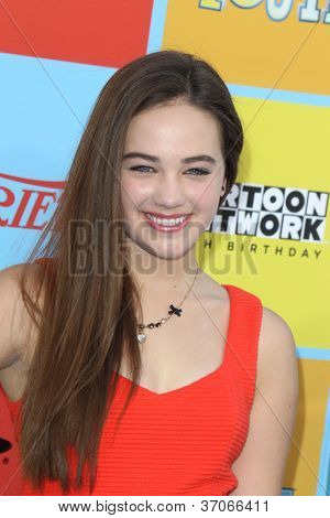 LOS ANGELES - SEP 15:  Mary Mouser arrives at the Variety's Power Of Youth Event at Paramount Studios on September 15, 2012 in Los Angeles, CA