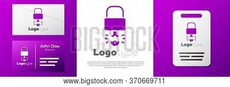 Logotype Key Broke Inside Of Padlock Icon Isolated On White Background. Padlock Sign. Security, Safe