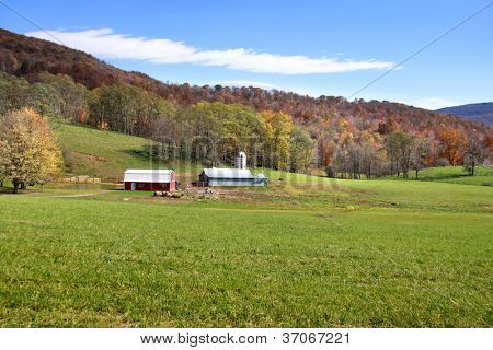 Beautiful farm scene in West Virginia