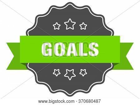 Goals Isolated Seal. Goals Green Label. Goals