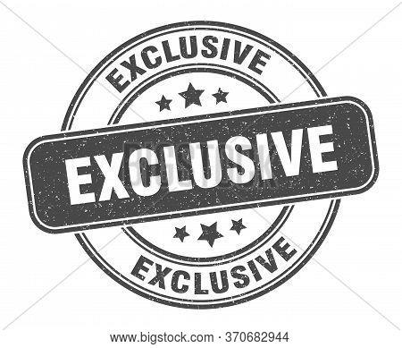 Exclusive Stamp. Exclusive Label. Round Grunge Sign