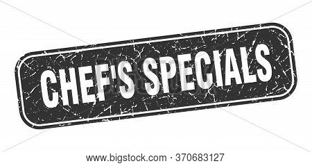 Chefs Specials Stamp. Chefs Specials Square Grungy Black Sign