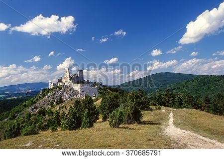 Castle Cachtice Slovakia Seat Elizabeth Erzsebet Bathory, Mysterious Castle In The Carpathians, Slov
