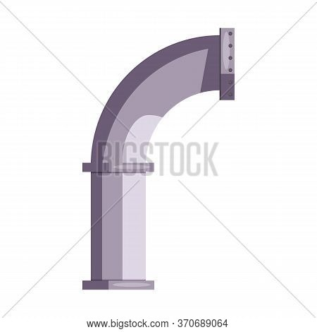 Large Water Pipe Construction. Steel, Leakage, House. Engineering Concept. Illustration Can Be Used