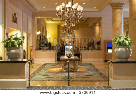 Luxurious Lobby In An Upscale Resort