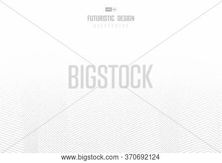 Abstract Gray Line Zigzag Pattern Design With Copy Space Of Text Background. Use For Presentation, A