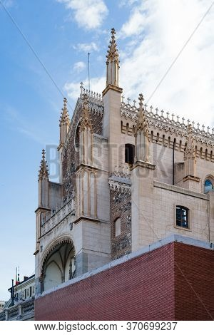 Exterior View Of St. Jeronimos The Royal Church In Madrid