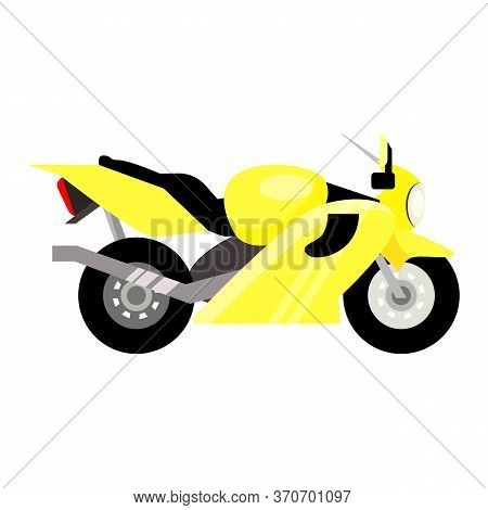 Yellow Sport Bike Illustration. Vehicle, Sport, Speed. Transport Concept. Illustration Can Be Used F