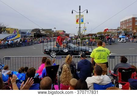 Rehoboth Beach, Delaware, U.s.a - October 26, 2019 - The Seawitch Festival Parade And Spectators On