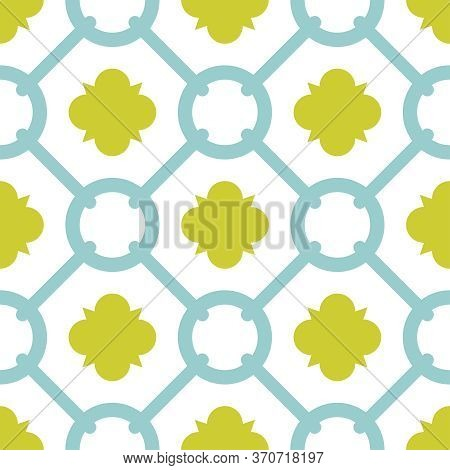 Tile Green And Blue Decorative Floor Tiles Vector Pattern Or Seamless Background Wallpaper